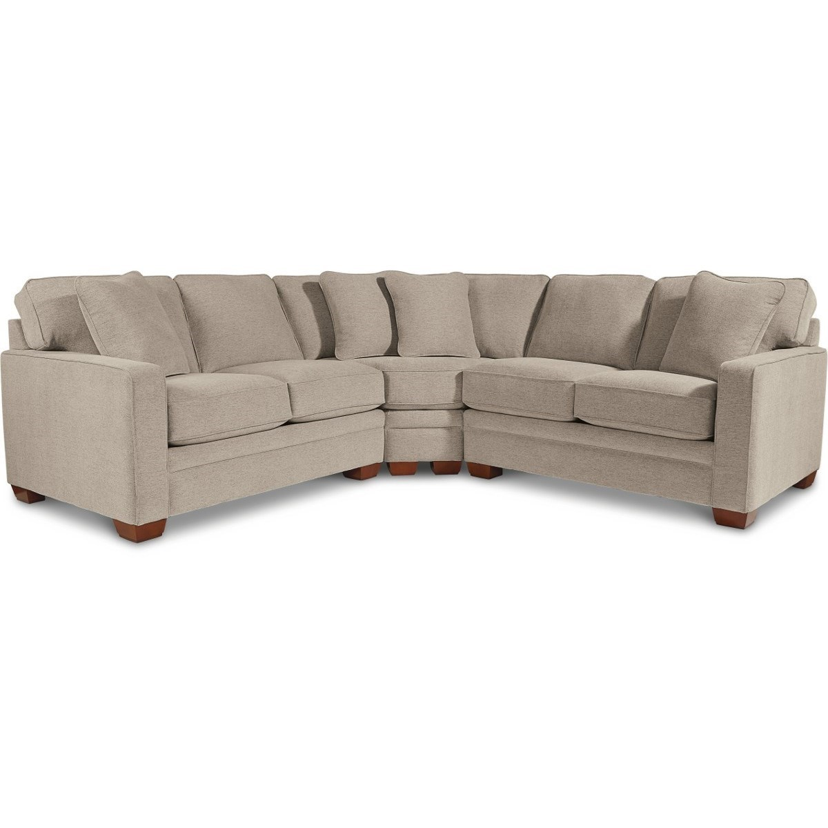 Contemporary 3-Piece Sectional with Wedge