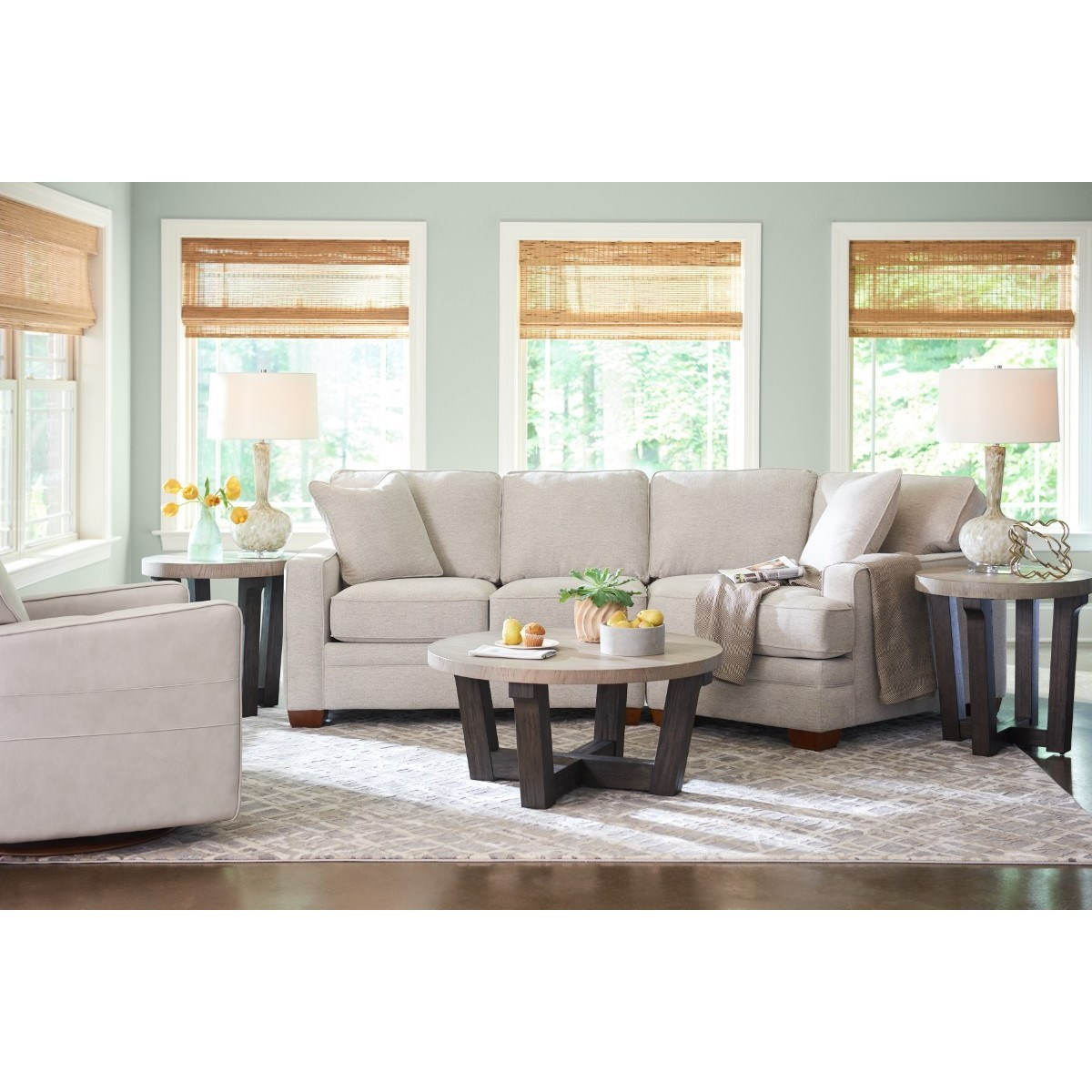 Contemporary 2-Piece Sectional with Left-Sitting Cuddler