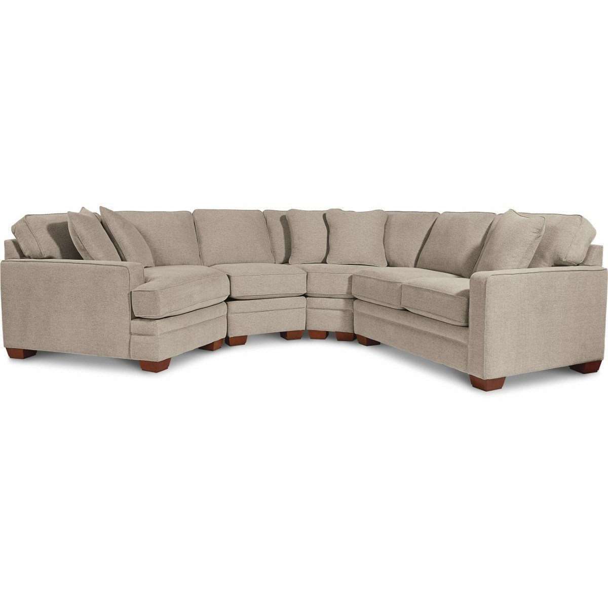 Contemporary 4-Piece Sectional with Right-Sitting Cuddler
