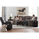 4-Seat Power Reclining Sectional Sofa