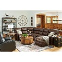 5-Seat Reclining Sectional w/  RAF Chaise