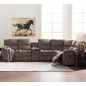 Pwr Reclining Sectional w/ Console &Pwr Head