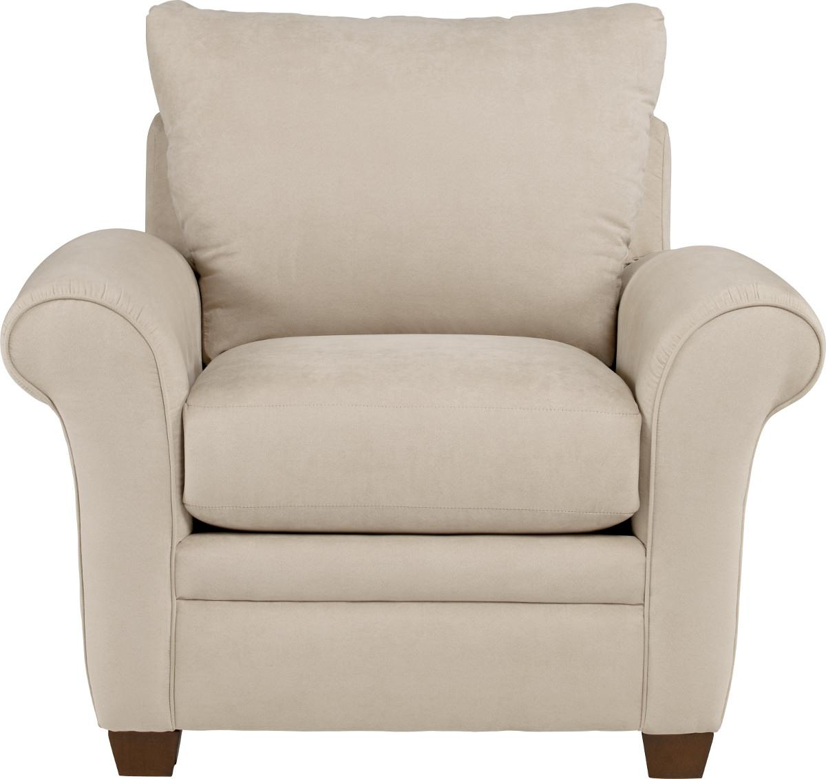 Transitional Upholstered Chair with Sock Arms