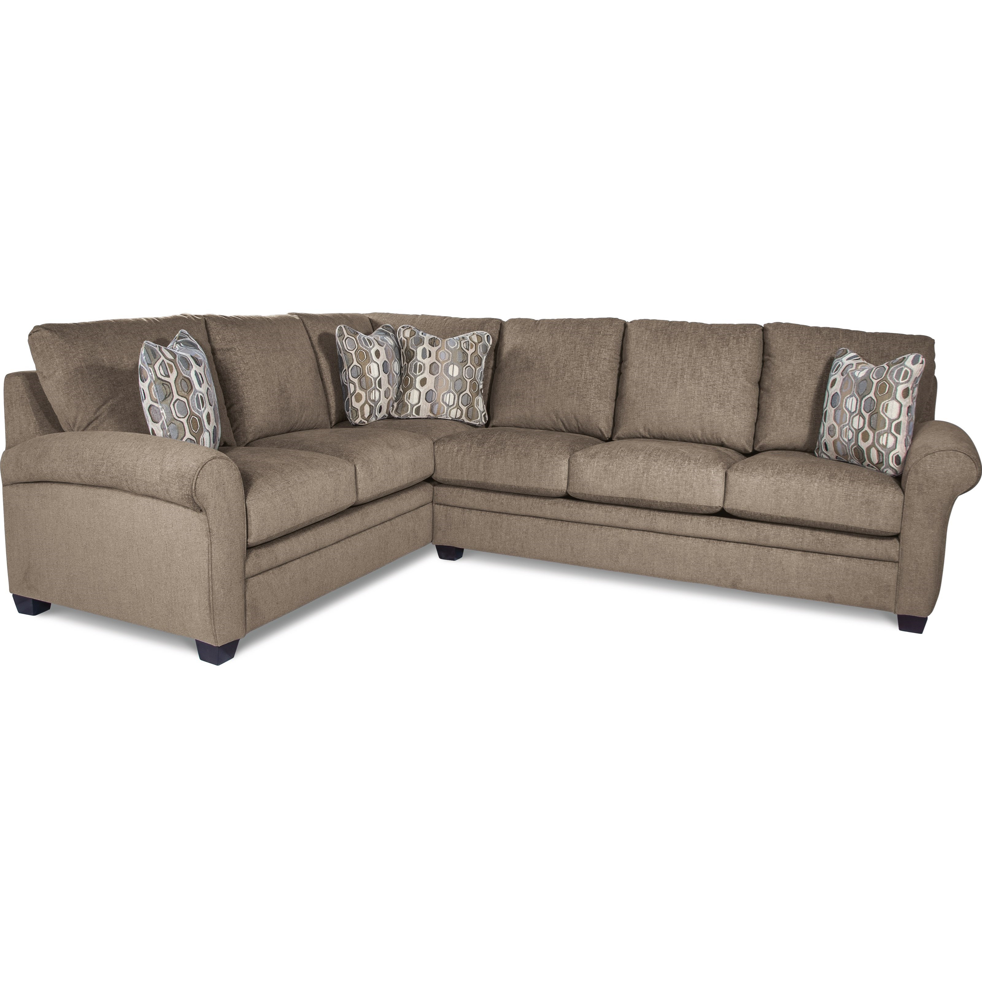 Casual Two Piece Sectional Sofa With Pull Out Queen