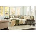 2 Pc Sectional Sofa w/ Queen Sleeper Mattres