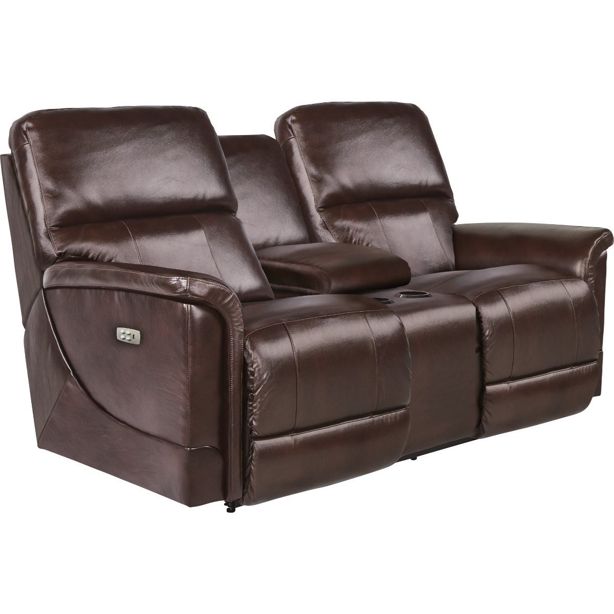 Power Reclining Power Headrest Loveseat with Cupholder Storage Console and USB Charging Ports