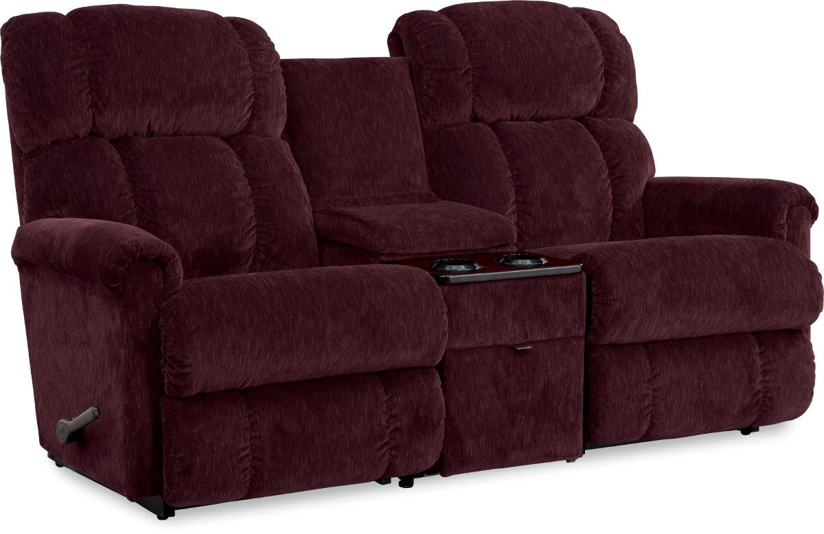 3 Piece Sectional Reclining Sofa With Middle Console By La Z Boy Wolf And Gardiner Wolf Furniture