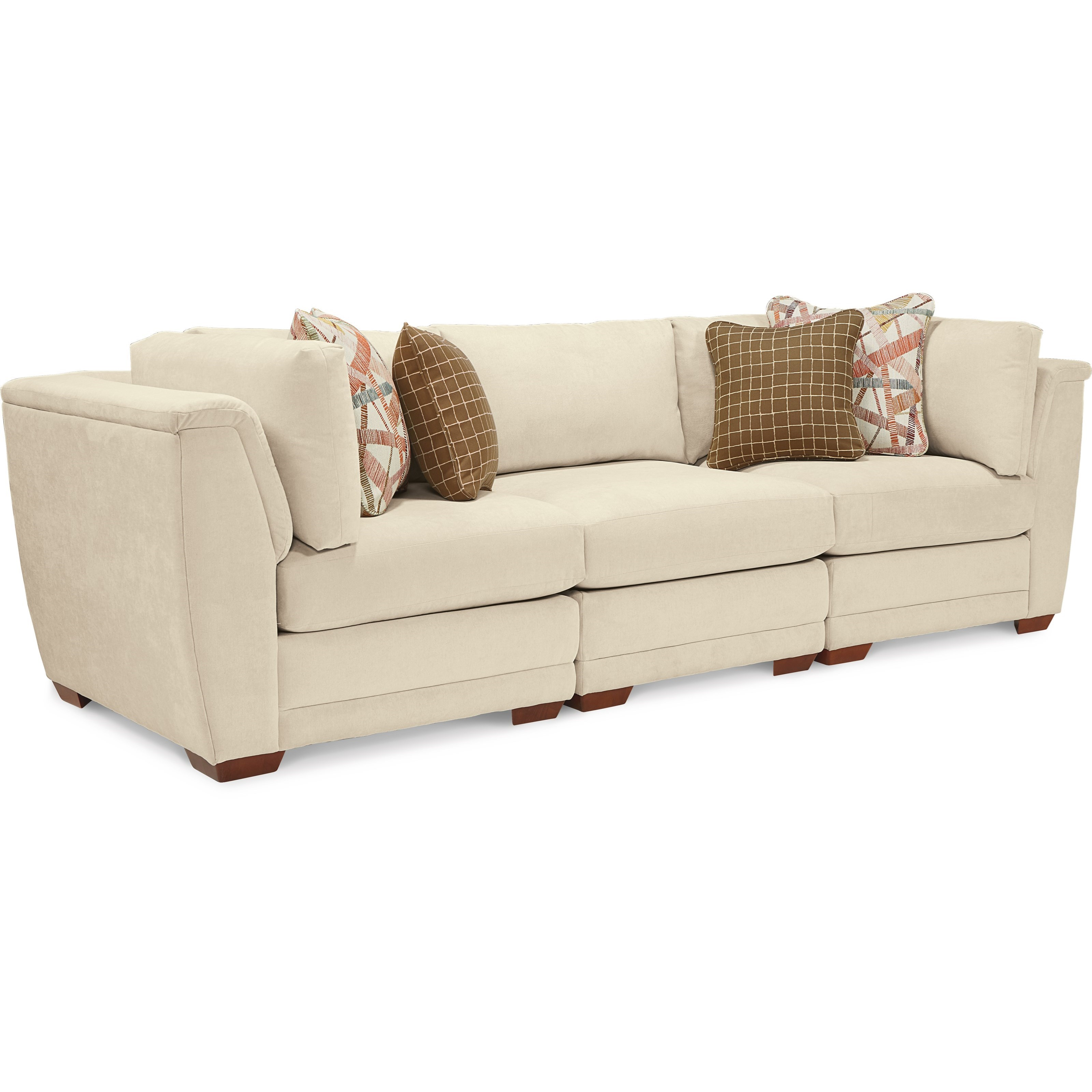 3 Piece Sectional Sofa With Tapered Block Feet By La Z Boy