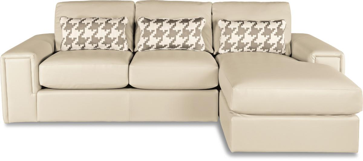 Two piece modern sectional sofa with architectural lines for Amazon sectional sofa with chaise