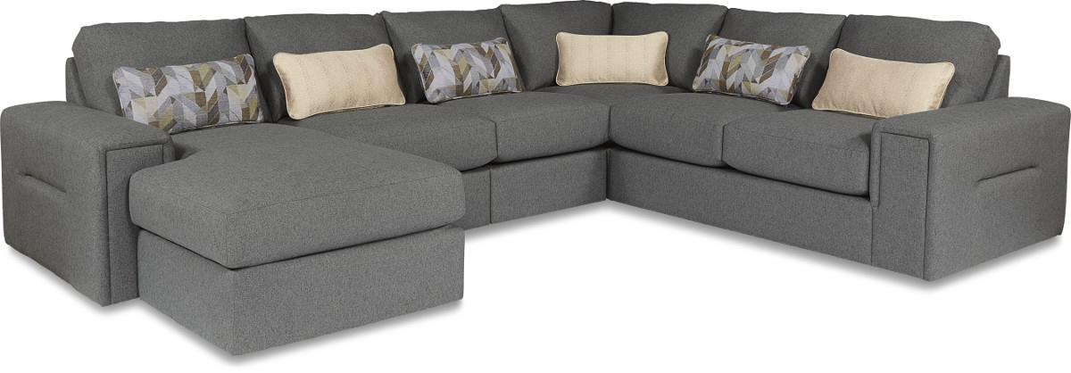 Five Piece Modern Sectional Sofa with Architectural Lines and LAF Chaise  sc 1 st  Wolf Furniture : sectional lazy boy - Sectionals, Sofas & Couches