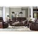La-Z-Time Full Reclining Loveseat w/ Console