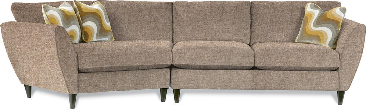 Contemporary Two Piece Sectional Sofa With RAS Cuddler By LaZBoy - La z boy chaise sofa