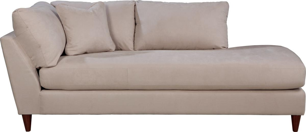 Contemporary Left Arm Sitting Chaise Lounge with Toss Pillow by La