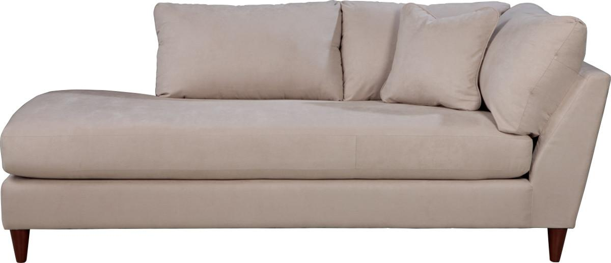 Contemporary Right Arm Sitting Chaise Lounge with Toss Pillow  sc 1 st  Wolf Furniture : right arm chaise - Sectionals, Sofas & Couches