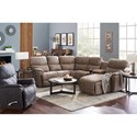 5 Pc Reclining Sofa w/ Left Sitting Chaise