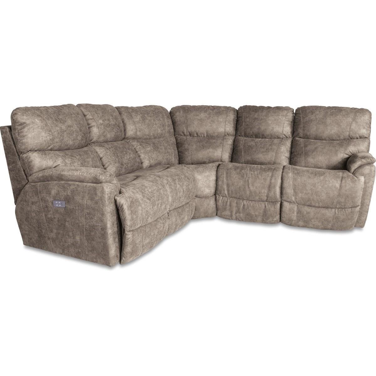 Three Piece Power Reclining Corner Sectional Sofa with USB Ports