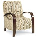 Lane Hi Leg Recliners Contemporary Julia Hileg Recliner with Bentwood Arms