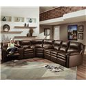 Lane Touchdown Leather 3 Piece Sectional Sofa
