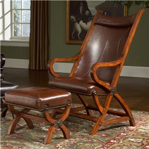Hunter Faux Leather Chair and Ottoman