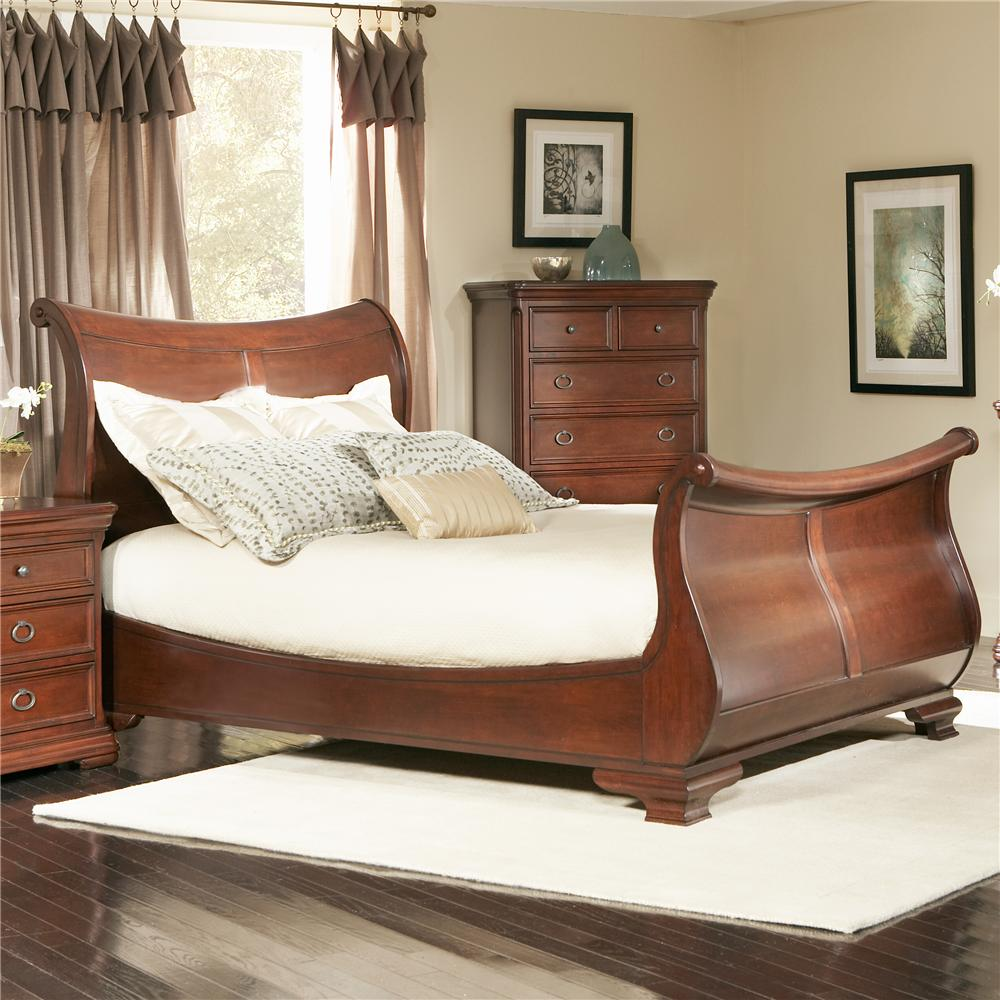 Largo Bedroom Furniture Queen Sleigh Bed With Scrolled Details By Largo Wolf And