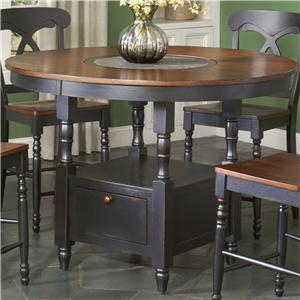 Largo Phillip Counter Height Table with Lazy Susan