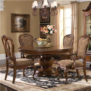 Largo Traviata 5-Piece Round Dining Table Set