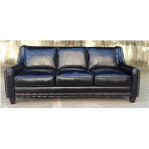 Leather Italia USA Coal Sofa