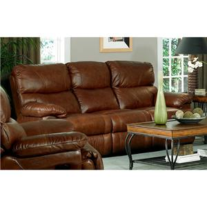 Leather Italia USA Baker Reclining Sofa