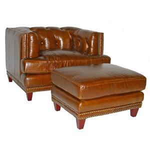 Vendor 1919 Edward Chair & Ottoman Set