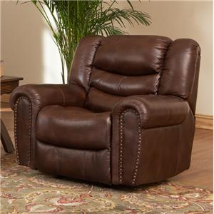Leather Italia USA Kyle  Rocker Reclining Chair