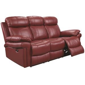 Power Top Grain Leather Match Dual Reclining