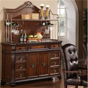Lee Furniture TBL258 Server with Hutch