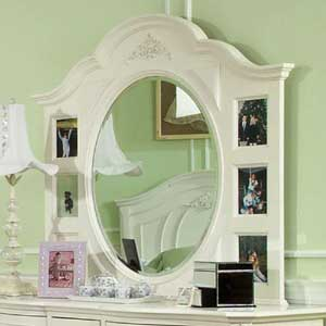 Legacy Classic Kids Enchantment Victorian White Dresser Mirror
