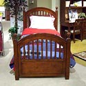 Legacy Classic Kids American Spirit Twin-Size Low Poster Bed - Bed Shown May Not Represent Size Indicated