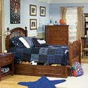 Legacy Classic Kids American Spirit Twin-Size Low Poster Bed - Shown with (-9500) Trundle Storage - Bed Shown May Not Represent Size Indicated