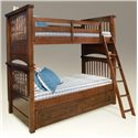 Legacy Classic Kids American Spirit Twin-Over-Twin Bunk Bed - Shown with Underbed Storage Unit