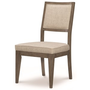 Casual Upholstered Back Side Chair