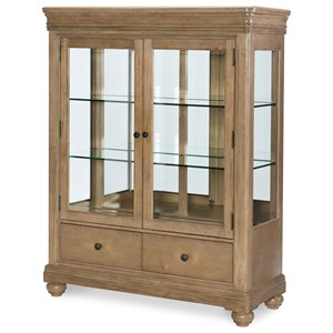 2 Door Display Cabinet with Mirrored Back and Touch Lighting