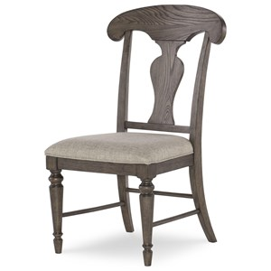 Splat Back Side Chair with Upholstered Seat
