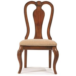 Queen Anne Side Chair with Upholstered Seat