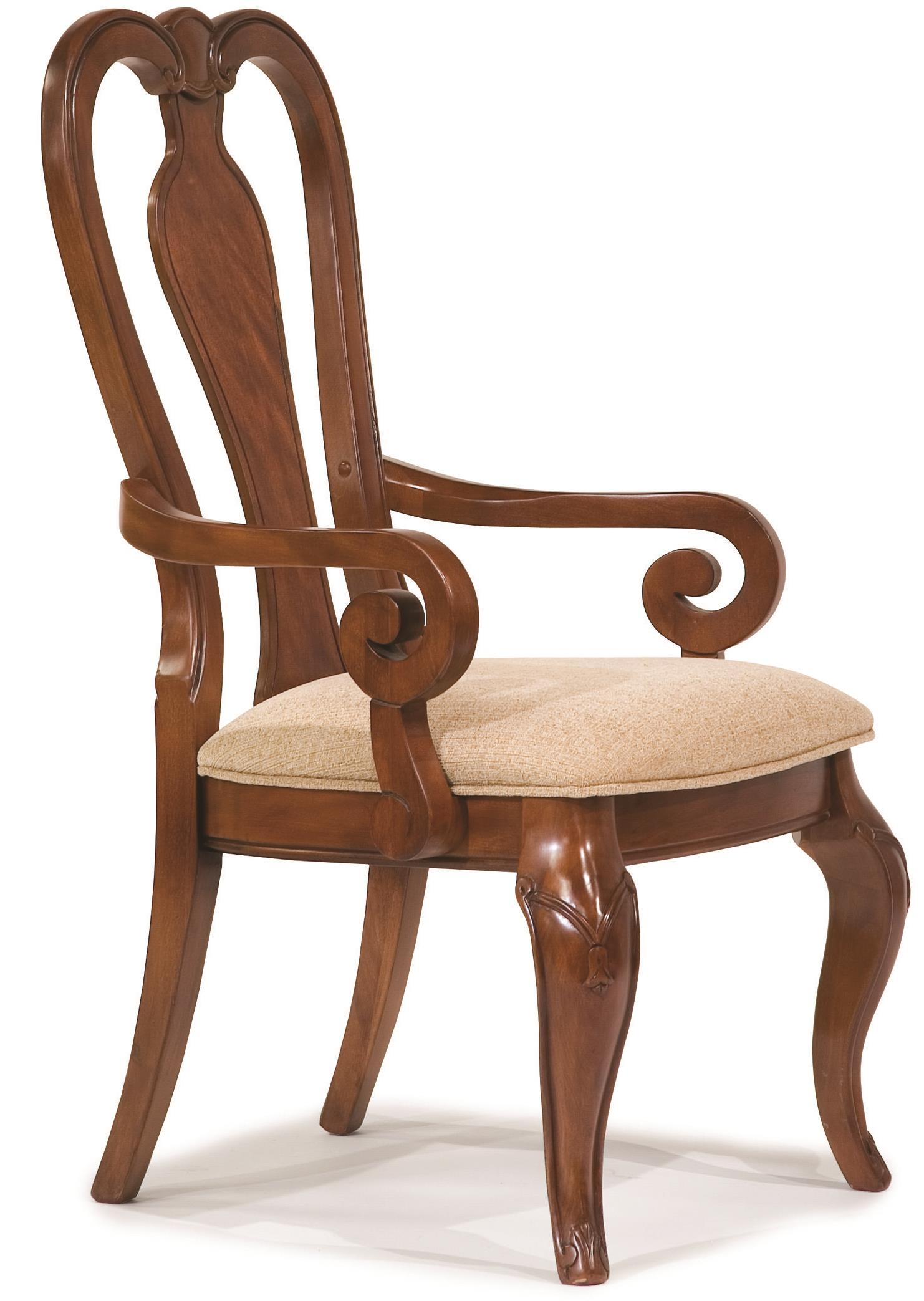Queen Anne Arm Chair with Upholstered Seat by Legacy Classic