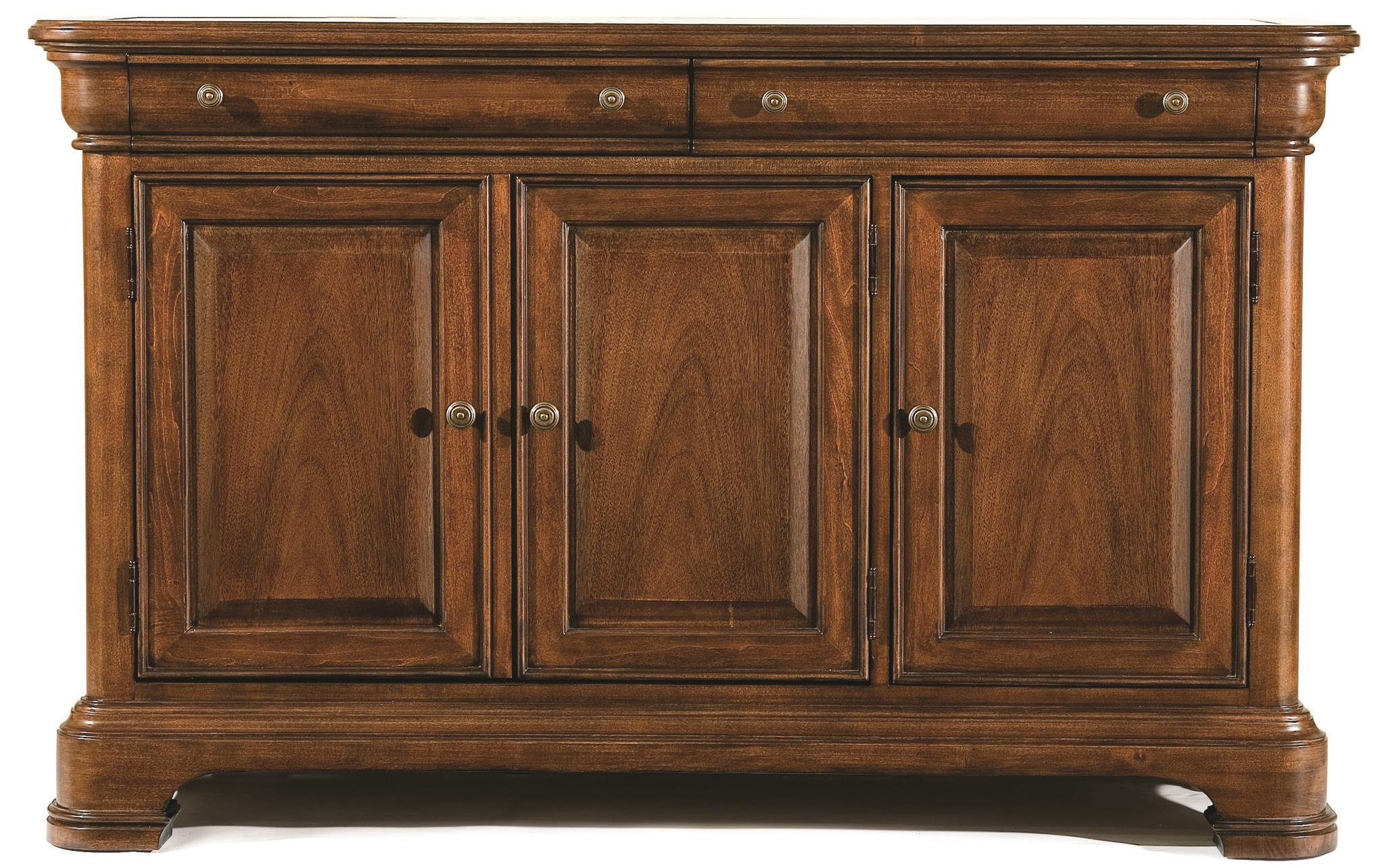 Two Drawer Credenza with Marble Top