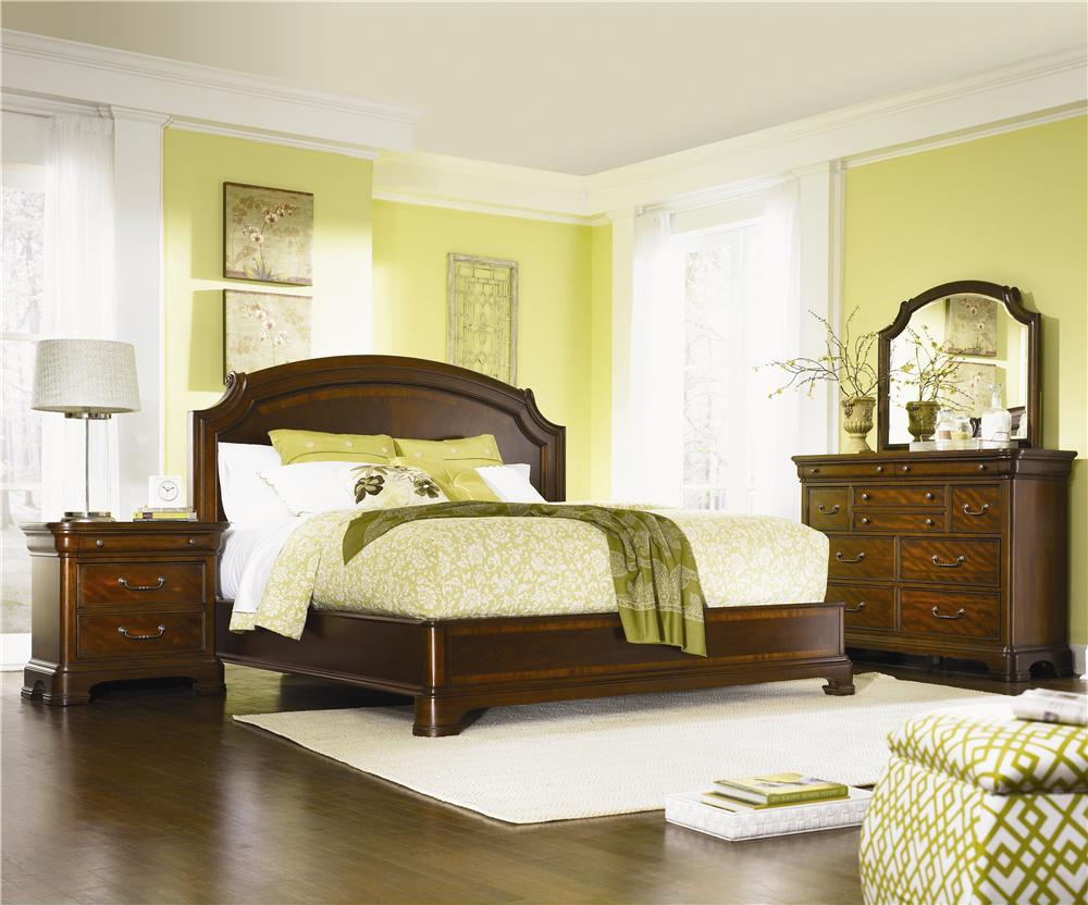 Queen Size Scroll Top Platform Bed By Legacy Classic Wolf And Gardiner Wolf Furniture