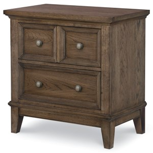 2-Drawer Nightstand with USB Outlet