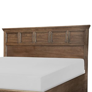 Transitional Queen Panel Headboard