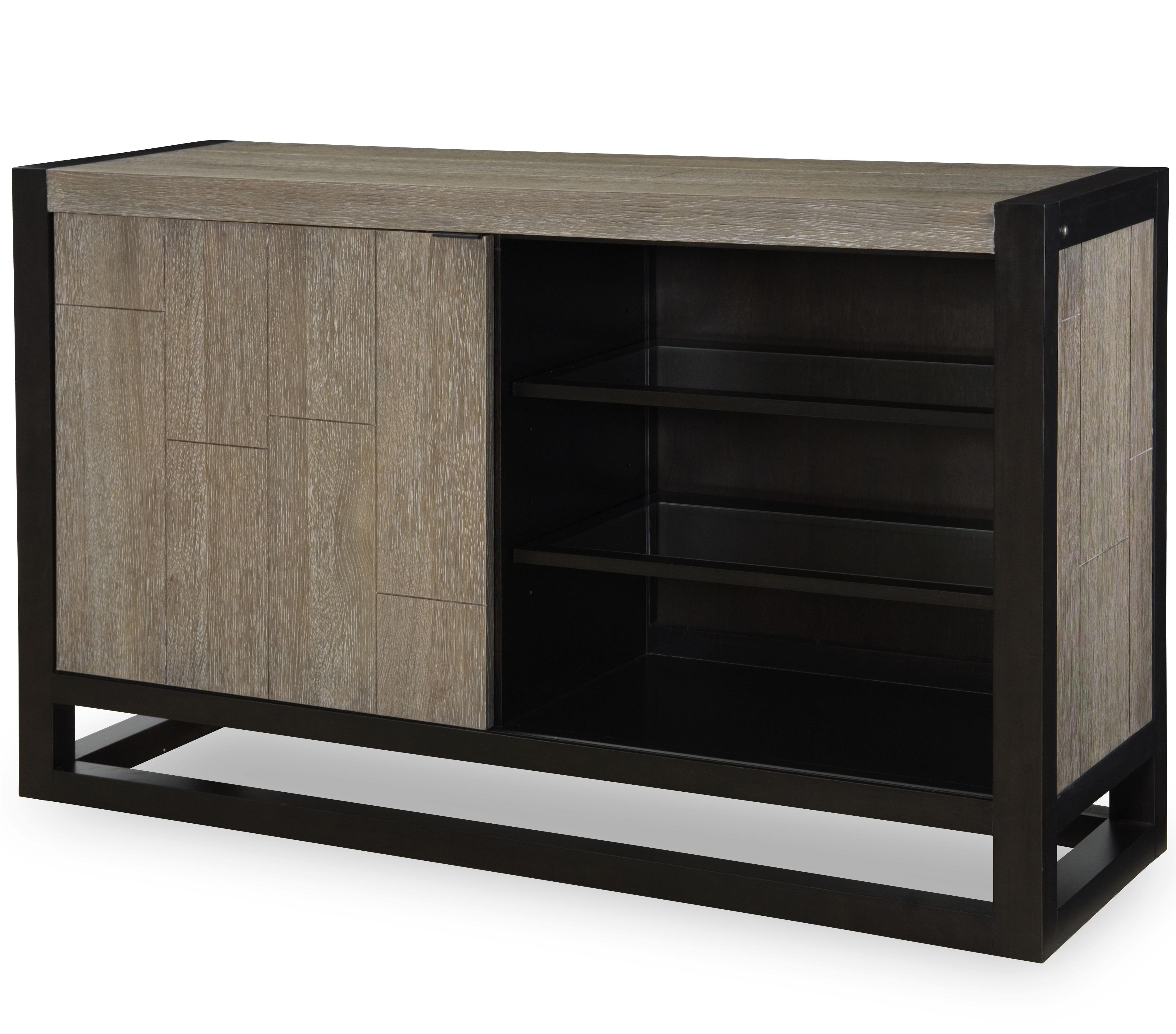 Credenza With Sliding Door And Light By Legacy Classic Wolf And