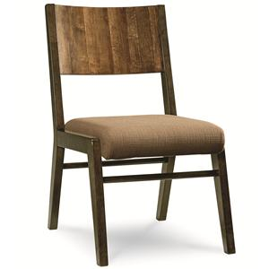 Side Chair with Wood Back and Upholstered Seat