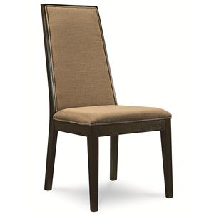 Side Chair with Upholstered Back and Seat