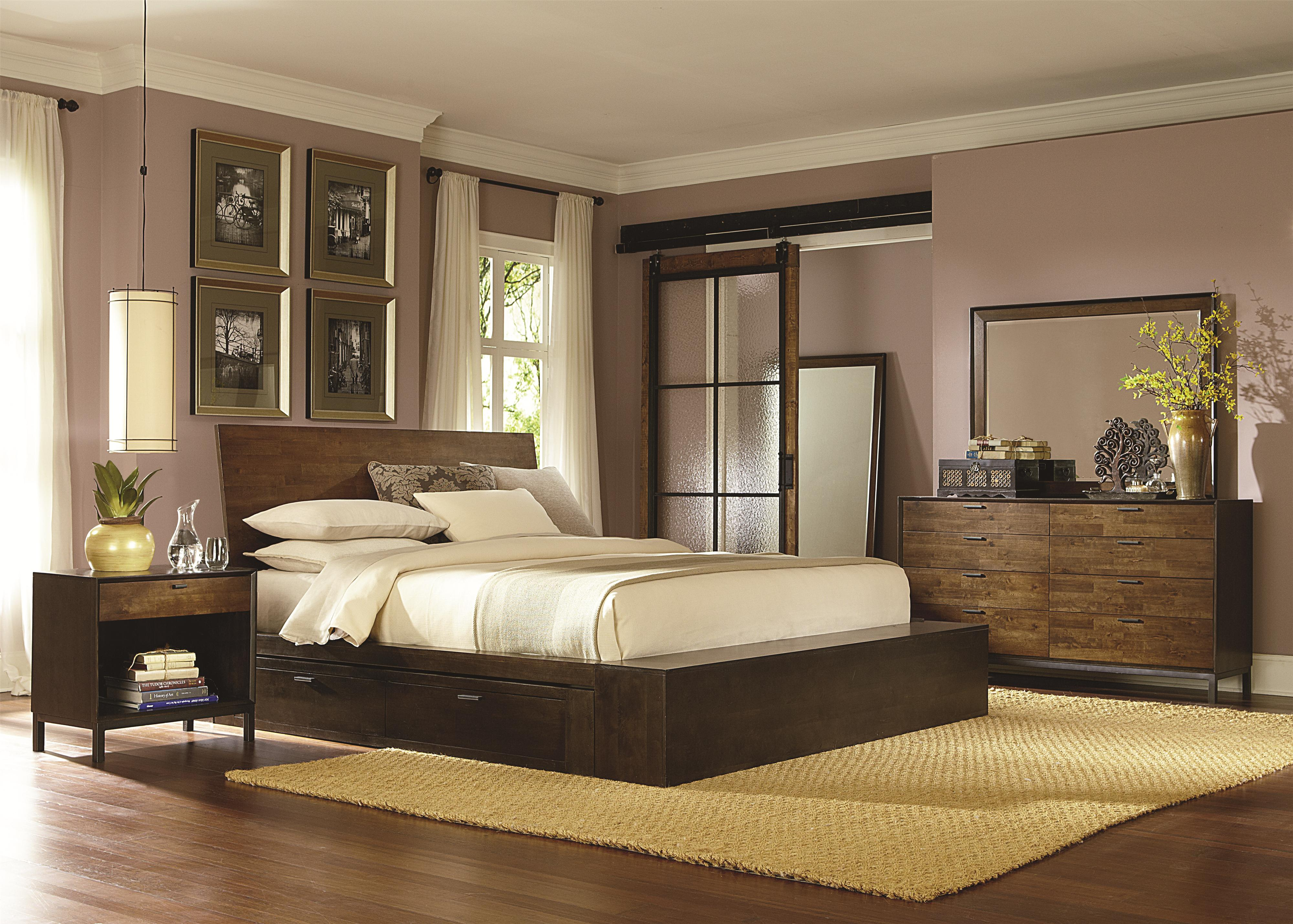 Queen Platform Bed w  Two Storage Drawers. Complete Platform Queen Bed with Two Storage Drawers by Legacy