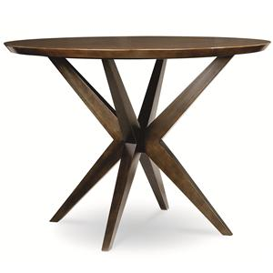 Round Pub Table in Hazelnut Finish
